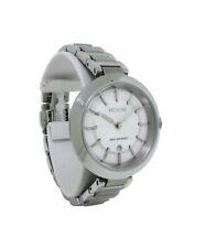 Nixon A246 100 Tessa Women's Round Silver Tone Analog Date Petite Watch