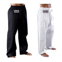 TurnerMAX Karate Taekwondo Pants White Black Martial Art Training Trousers
