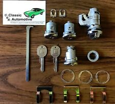 Lock Set Door + Trunk + Glove Box 16pc Kit GM key 69-79 Nova locks Chevy II 2