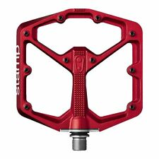 Crank Brothers STAMP Bike Pedals for MTB Mountain Bike - A Pair SMALL Red - NEW