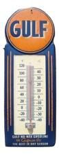 LARGE 15 GULF NO-NOX Gasoline and Oil Vintage Style Thermometer Sign Gas...