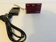 Nikon COOLPIX S60 10.0MP Digital Camera - Crimson red