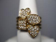 Anillos de joyería con diamantes amarillo oro amarillo de 14 quilates