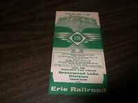 APRIL 1960 ERIE RAILROAD FORM 8 GREENWOOD LAKE CALDWELL BRANCH TIMETABLE
