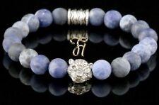 Sodalite Blue Matt 0 5/16in Bracelet Pearl Bracelet Silver-Coloured Tiger Head