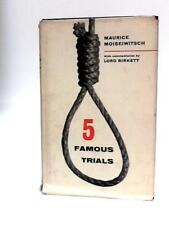 Five Famous Trials Book (Moiseiwitsch, Maurice - 1962) (ID:83828)