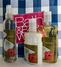 BATH AND BODY WORKS Exotic Coconut Shower Gel, Body Lotion, Body Splash Sealed