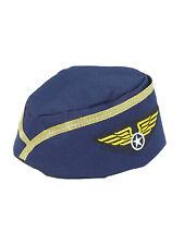 Stewardess Womens Adult Flight Attendant Halloween Costume Hat