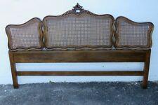 New listing French Carved Caning King Size Headboard 2152