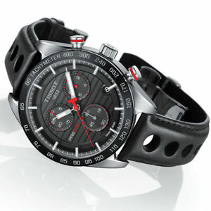 Tissot Mens PRS 516 Chrono Stainless Steel Black Dial Watch T100.417.16.051.00