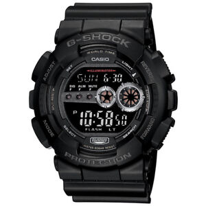Casio 51.0mm G-Shock GD100-1B Men's Sports  Water Resistant, Digital Watch,Black
