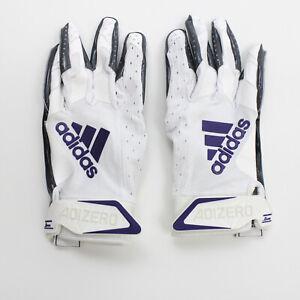 adidas adizero Gloves - Receiver Men's White/Dark Gray Used