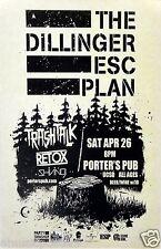 THE DILLINGER ESCAPE PLAN 2014 SAN DIEGO CONCERT TOUR POSTER - Mathcore Music