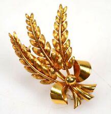 """Tiffany & Co. Italian 18K """"Wheat"""" Pin Lot 135"""
