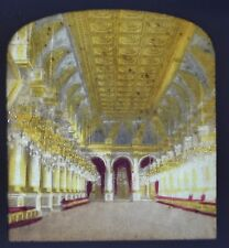 1860 Hold To Light Colour Tissue Stereoview Photo Hotel De Ville Galerie Fetes