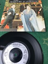 Barcelona Freddie Mercury & Montserrat Gaballe 7 Inch Single Vinyl