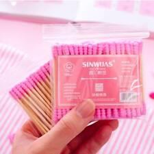 100pcs/ Pack Double Head Cotton Swab Women Makeup Cotton Buds Tip