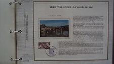 Document Philatélique - Série touristique : La Vallée du Lot - 7 septembre 1974