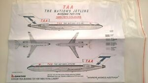 Hawkeye Boeing 727-100 TAA 1/144 Scale decal & instructions only
