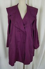Laura Ashley Double Breasted Wide Lapel Swing Trench Coat Womens M Great Britain