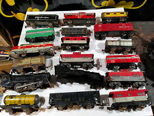 Large Lot Of Marx Tin Train Cars Locomotive Parts