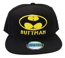 BUTTMAN Funny Spoof Parody Batman Snapback Cap Hat Halloween Party