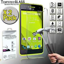 2 Pack Tempered Glass Flim Screen Protector Cover For BLU Studio 5.0 C HD