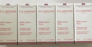 5 x Clarins Multi Active Yeux Instant Eye Reviver 3ml each - 15ml total