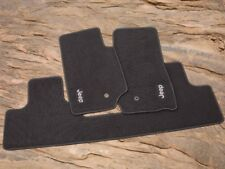 07-13 Jeep Wrangler New Premium Front & Rear Carpet Floor Mats Gray Mopar 4 Drs