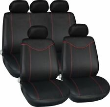 BLACK RED CAR SEAT COVERS FOR SEAT IBIZA LEON ALTEA