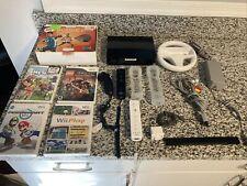 Nintendo Wii Motion Mario Kart System Bundle Tested 2x Controller Steering Wheel