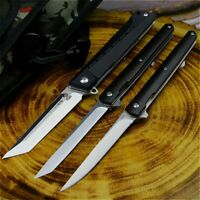 Stiletto Japan Survival Camping Ebony Folding Pocket Knife D2 high Quality EDC