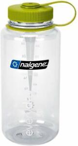 Nalgene BPA Free Tritan Wide Mouth Water Bottle, 1-Quart, Clear/Green