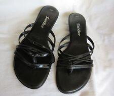 Flat (0 to 1/2 in) Medium (B, M) Width Cuban Heel Sandals for Women