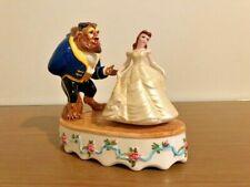 Vintage Disney Schmid Beauty And The Beast Porcelain Musical Figurine-No Box