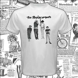 The Replacements Logo Men's White T-Shirt Size S-5XL