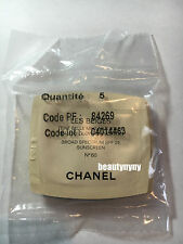 5 x Chanel Les Beiges Healthy Glow Foundation Samples SPF 25 No 60 - 0.7ml each