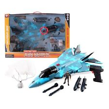 Army Camouflage Fighter Jet Plane Bomber with Military Action Soldier Kids F-16