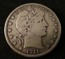 1911 D Barber Silver Half Dollar - Cond:  VF