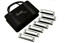 Fender Blues Deluxe Harmonica Pack of 3 with Case