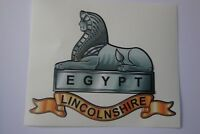 "LINCOLNSHIRE REGIMENT  STICKERS  X 2     5"" x 5""  BRITISH ARMY MILITARY"