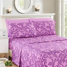 Lux Decor Collection Kendall 6 Piece Deep Pocket Bed Sheet Set Multi-Colors