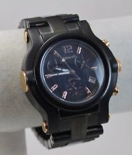 Renato Men's Beast Watch, Black CF Dial, Black IP / Gold Tone, Swiss ETA G-10