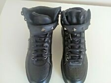 Black Leather Firetrap High Top trainer boots size 4 new without tags