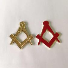 Masonic sticker in metal zinc alloy, weather proof, freemason sticker