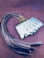 Blue Lanyards with Safety Release Clips & Hard Plastic Double ID Holder x 5