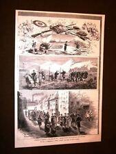 Rarissima Il tiro al bersaglio a Busto Arsizio nel 1879 Spari Rancio Operaie