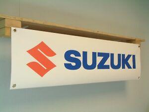 Suzuki Banner Motorcycle Workshop Garage Logo pvc Display show Sign