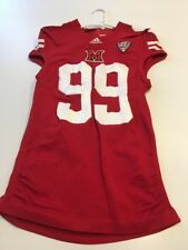 Game Worn Used Miami Red Hawks Football Jersey Adidas XL 3AC #99