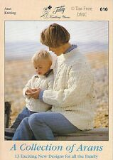 VAT Free 13 KNITTING PATTERNS ONLY Teddy Book A Collection of Arans New 616